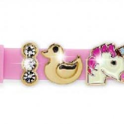 BIOJOUX BJB006 MIX6 - Charms - Rose Zinc Alloy 18K Gold Plated Silicon Bracelet 0017514