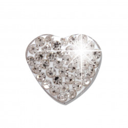 BIOJOUX BJT921 - Trendy White Crystal Heart 10mm 0011928