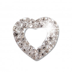 BIOJOUX BJT922 - Trendy White Crystal Open Heart 11mm 0011929