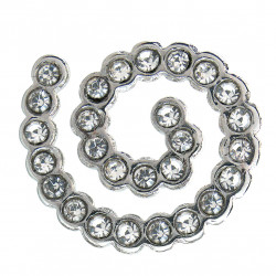 BIOJOUX BJT927 - Trendy White Crystal Spiral 12mm 0011932