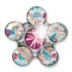 INVERNESS 120ST - Λουλούδι Κρύσταλλο/Ροζ 5mm - Ανοξείδωτο ατσάλι Με Τιτάνιο Eli (Ζευγάρι) 0005776