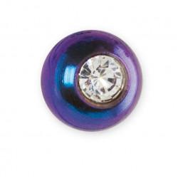 INVERNESS 530c - Σφαιρικά ανοδιωμένα σκουλαρίκια μπλε/ κρύσταλλο 4mm - Τιτάνιο Eli (Ζευγάρι) 0005807