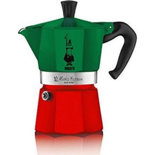BIALETTI La Mokina Tricolore Italia Καφετιέρα Espresso 1/2 40ml (0005650) 0026916
