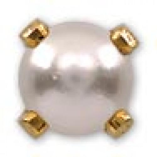 INVERNESS 40 - Πέρλα 4mm - Επίχρυσο (Ζευγάρι) 0005764