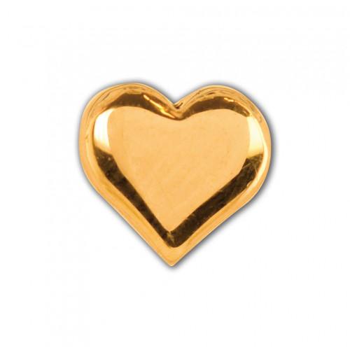 INVERNESS 903C1 - Καρδιά 5mm - Επίχρυσο (Ζευγάρι) 0005815
