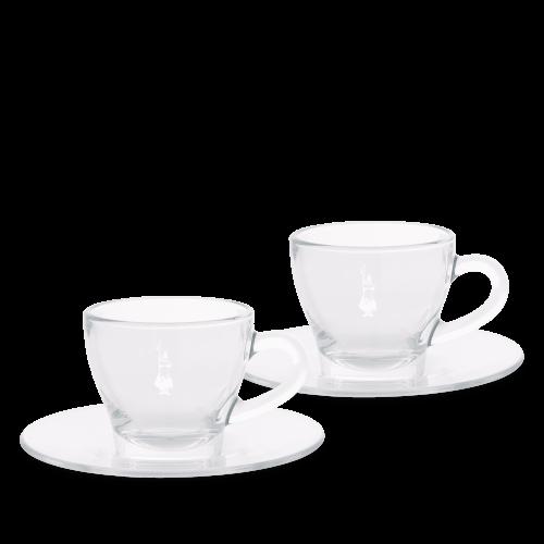 BIALETTI DCRAST0007 Σετ 2 Γυάλινες κούπες Cappuccino (με πιατάκια) 0026913