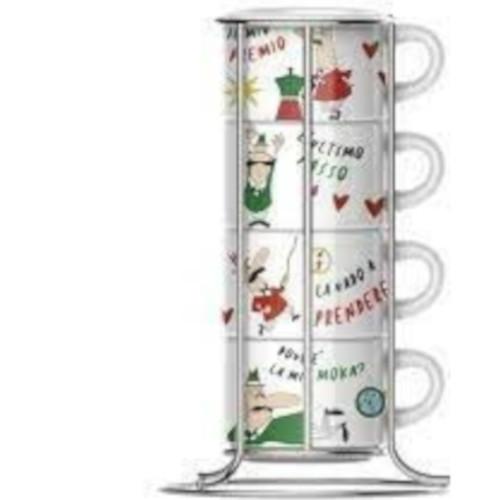 BIALETTI TAZZ203 Σετ 4 κούπες Cappuccino 0026915